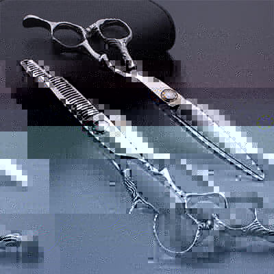 Ball bearing screw hair cutting scissors set
