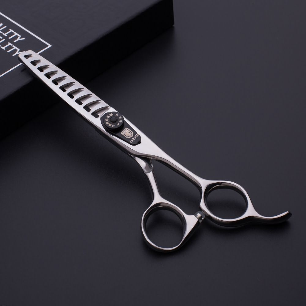 Japan steel hair cutting scissors 6.0 inch 10 teeth hair thinning scissors