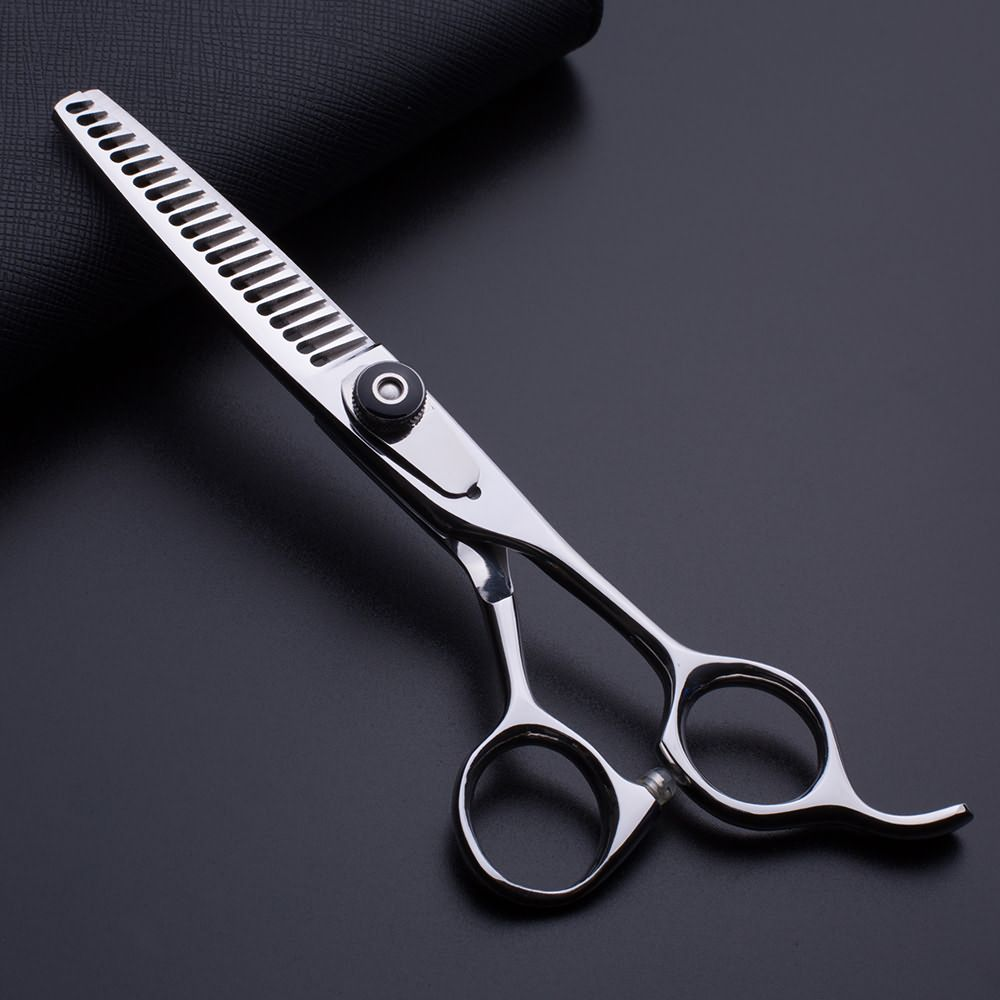 Wholesale barber scissors 6.0 with 21 teeth hair thinning scissors