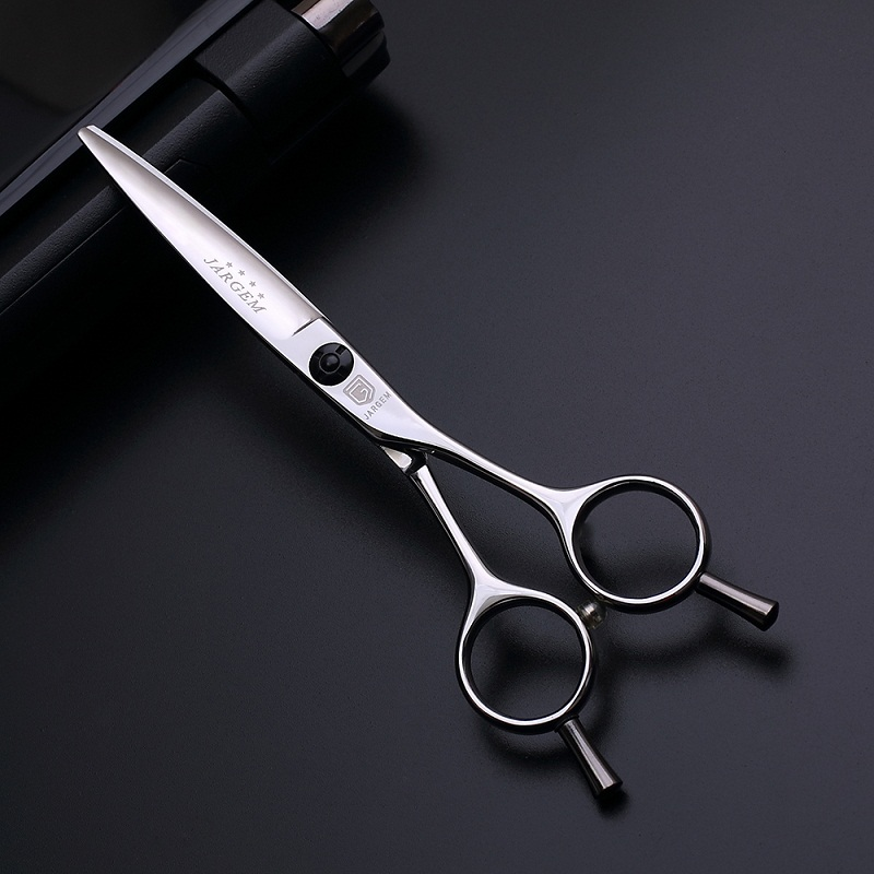 Removable finger rest hairdressing scissors with 147 handmade processes
