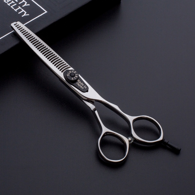 Handmade japanese steel hairdressing thinning scissors