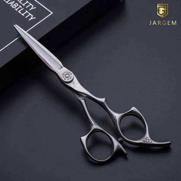Japan 440C hair cutting scissors engrave handle barber scissors in 6.0 inch