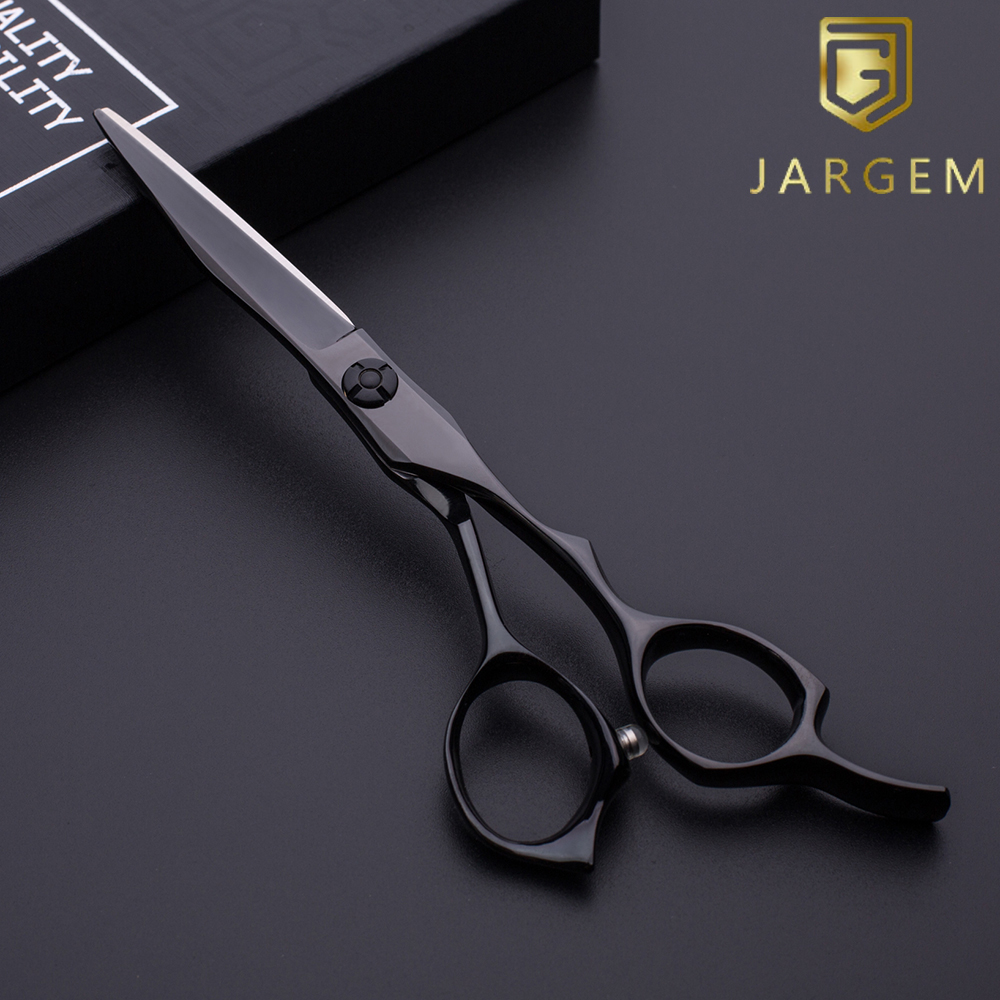 Small MOQ japan vg-10 black coated hair scissors in 5.75 inch