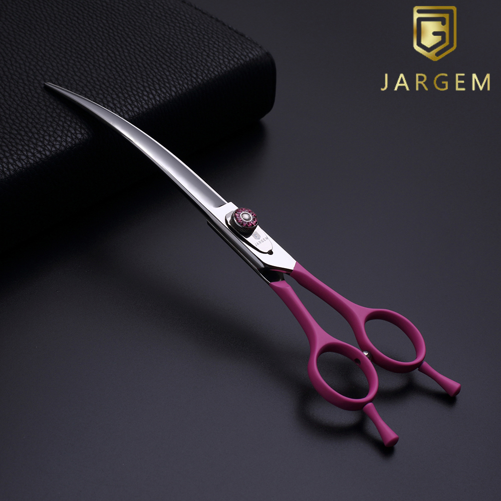 147 handmade processes dog scissor 7.5 inch curved blade pet shears