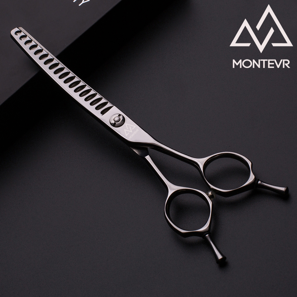 Special design curved thinning pet grooming scissors in 6.5 inch