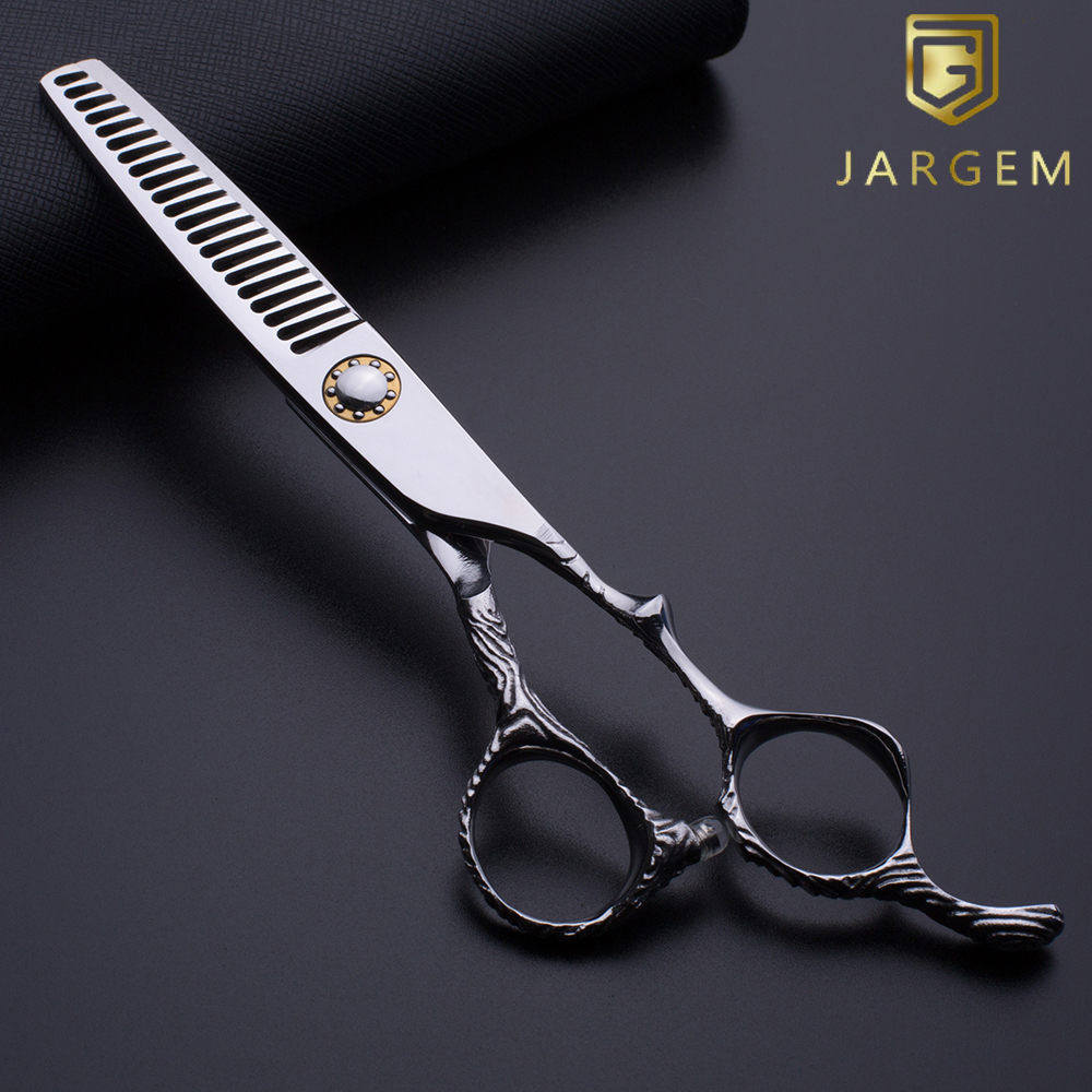 Ball bearing screw 21 teeth hairdressing thinning scissors