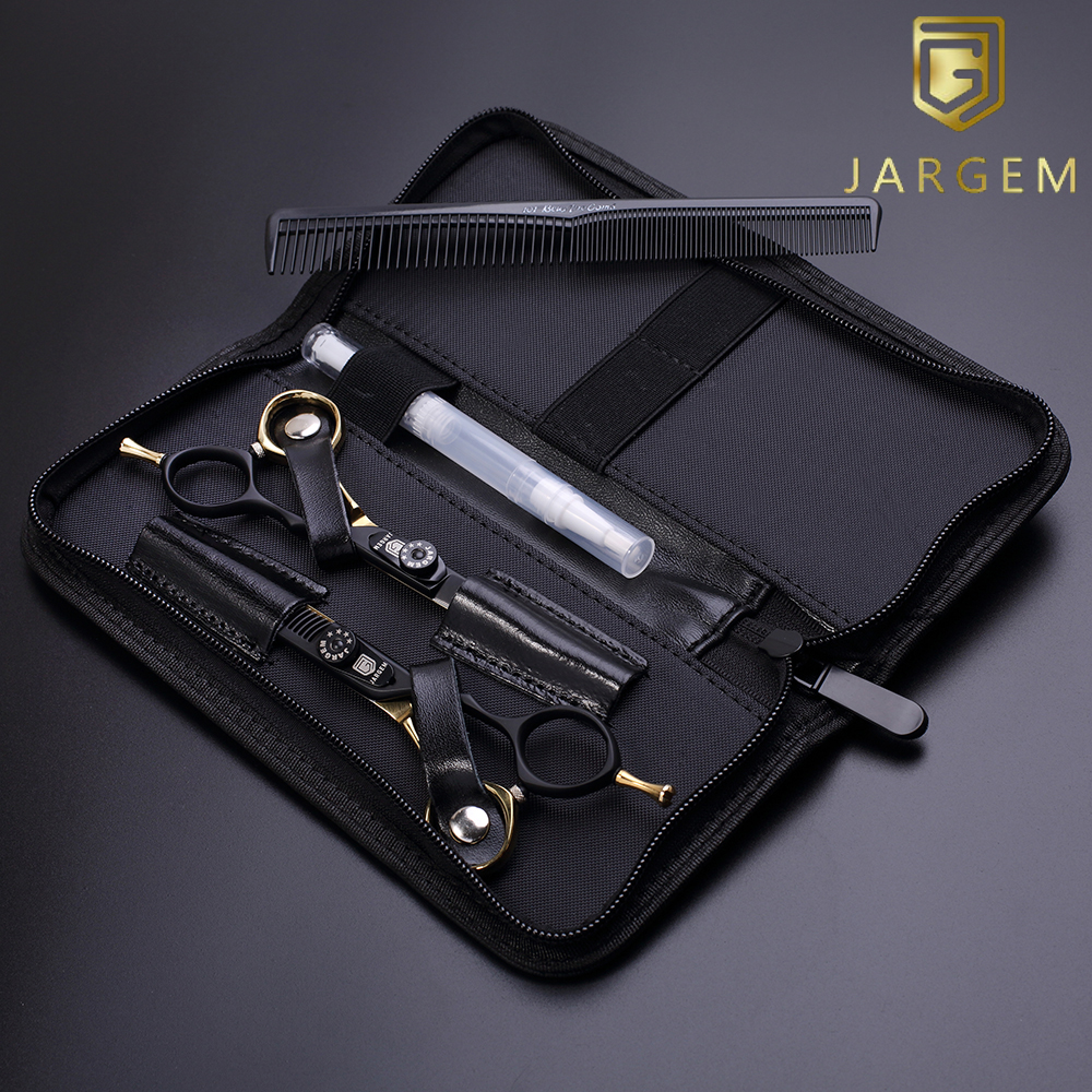 Coated hair scissors set in 6.0 inch with zipper case