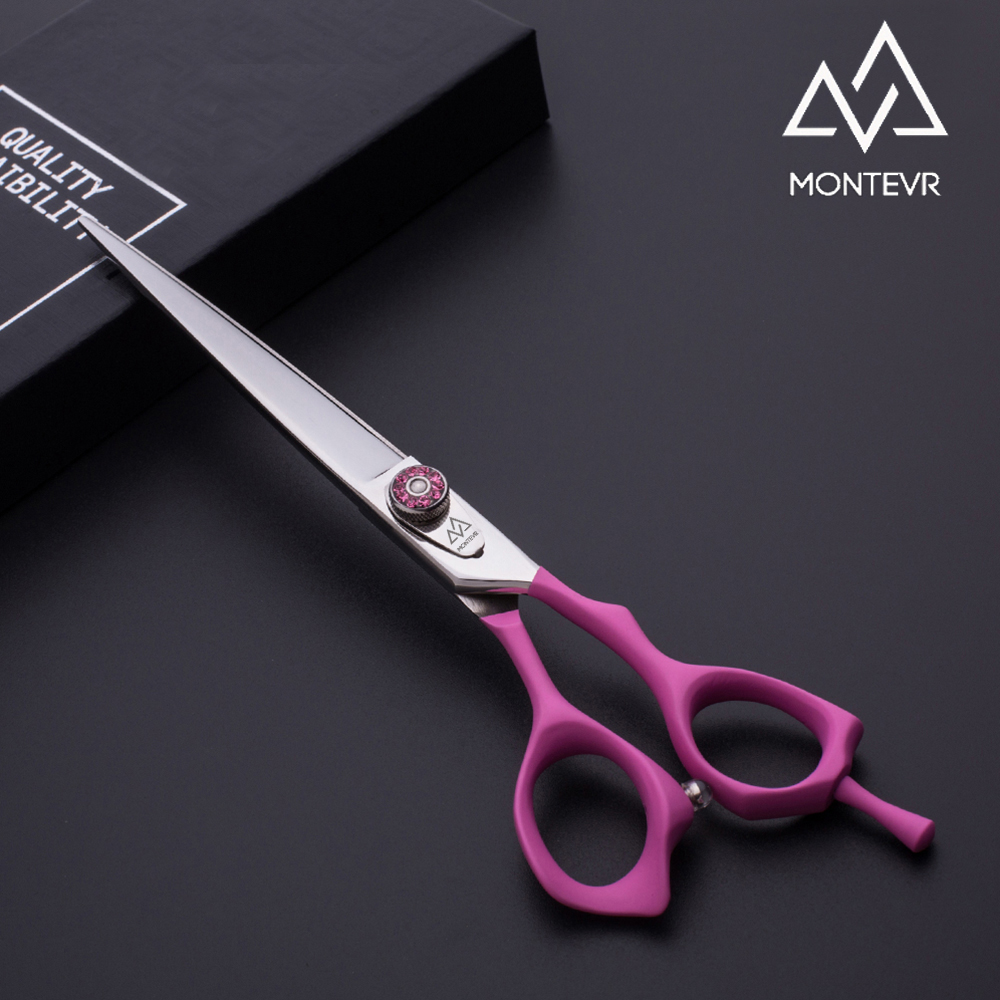 Beauty design pink coated handle pet dog grooming shears